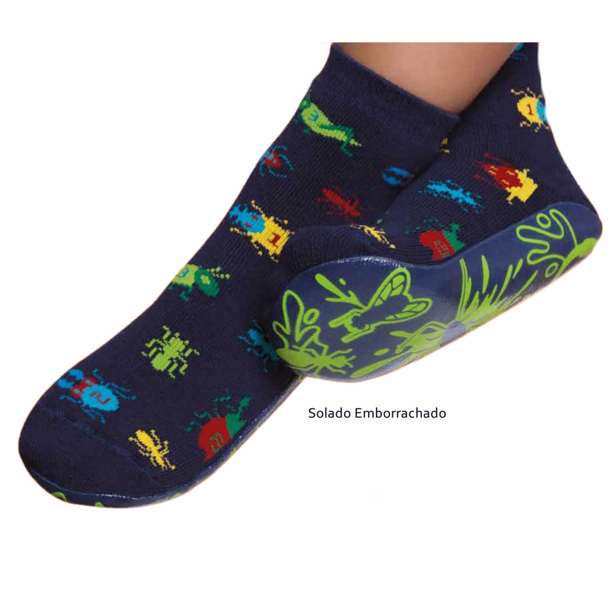 meia-infantil-pansock-insetos-azul-marinho-puket