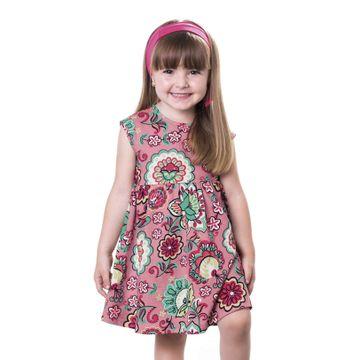 vestido-menina-meia-malha-rosa-com-flores-1