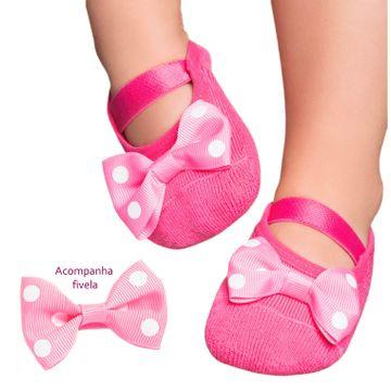 meia-bebe-sapatilha-rosa-com-fivela-de-laco-puket