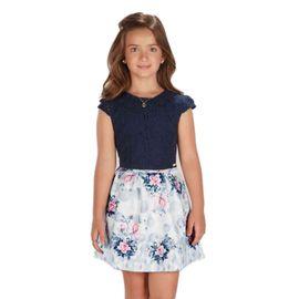 conjunto-menina-top-renda-cropped-marinho-e-saia-flores
