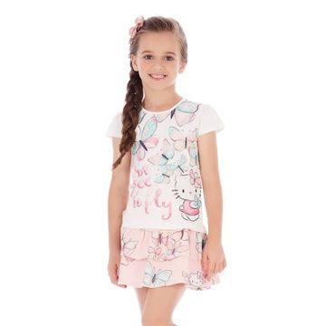 conjunto-menina-cotton-borboletas-hello-kitty-saia-rosa
