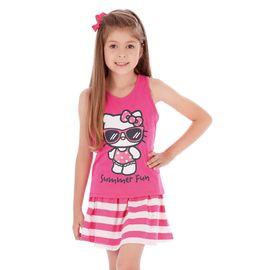 conjunto-menina-regata-pink-e-saia-listrada-hello-kitty