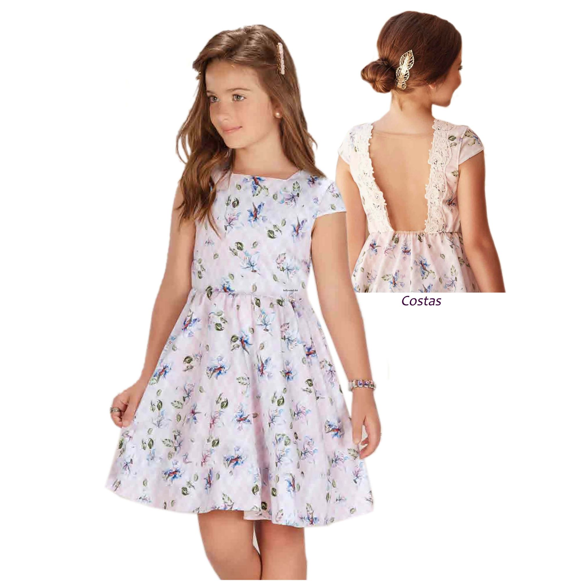 7e35ef2aae9b Vestido Infantil Cetim Lilás e Decote nas Costas com Tule - Infanti