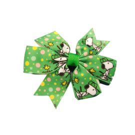 laco-infantil-para-cabelo-snoopy-M-verde-lacos-da-sorte-loja-ecameleca-kids