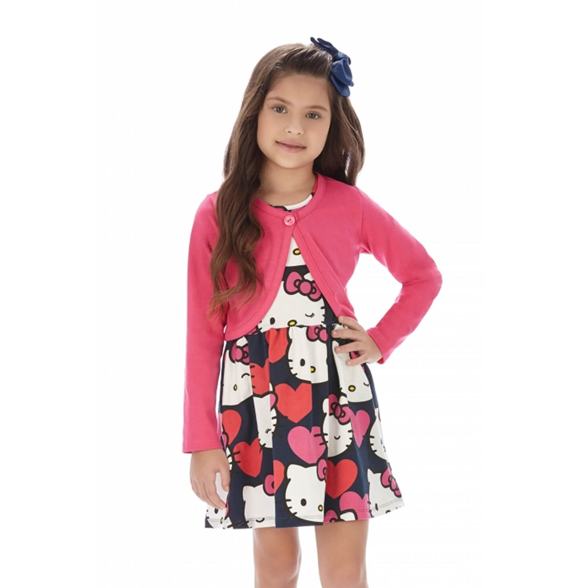 vestido-menina-hello-kitty-e-bolero-pink-em-cotton