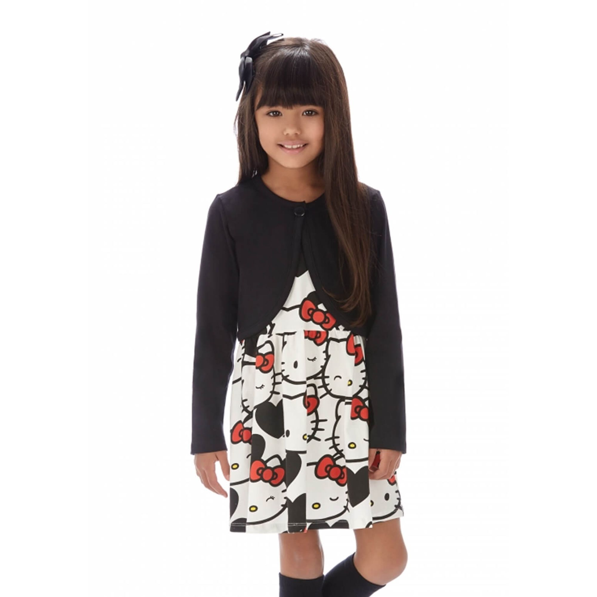 vestido-menina-hello-kitty-e-bolero-preto-em-cotton