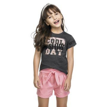 conjunto-menina-camiseta-grafite-e-short-corron-rosa-quimby