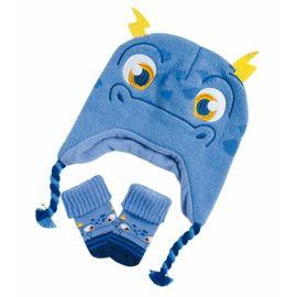 kit-touca-e-meia-kids-monstrinho-azul-puket