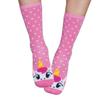 meia-infantil-soquete-unicornio-rosa-bolinhas-brancas
