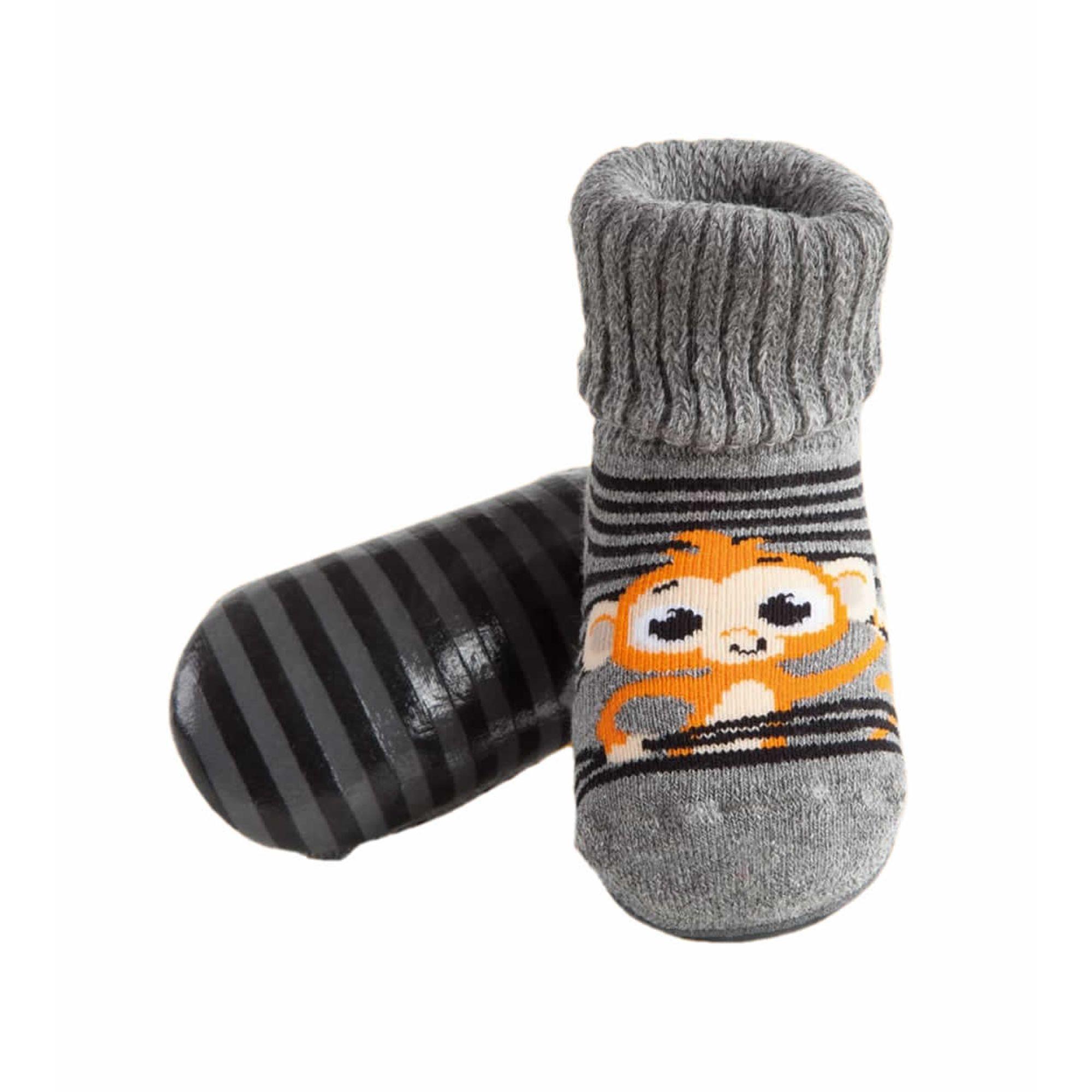 meia-infantil-botinha-pansock-macaquinho-puket
