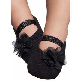 meia-sapatilha-bebe-estilo-preta-com-aplique-flor-e-brilho-puket