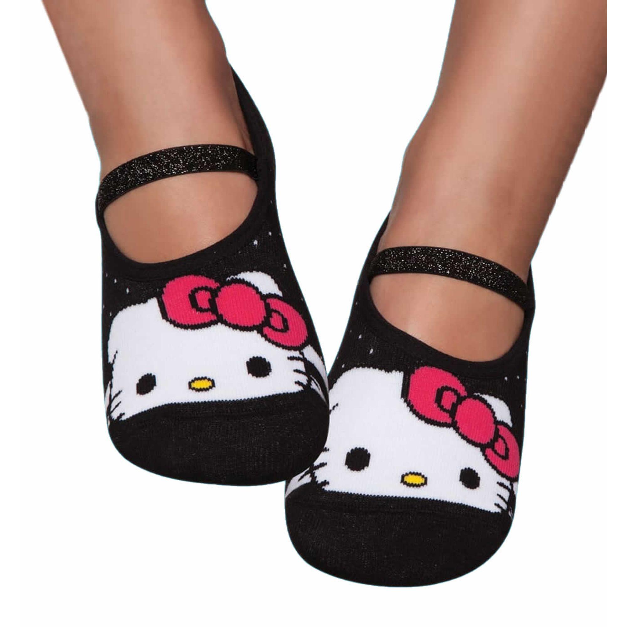 7e2ff95f4 Meia Infantil Sapatilha Hello Kitty com Solado Antiderrapante Puket -  EcaMeleca