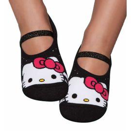 meia-infantil-sapatilha-hello-kitty-preta-puket