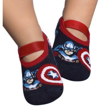 meia-baby-sapatilha-capitao-america-marvel-puket