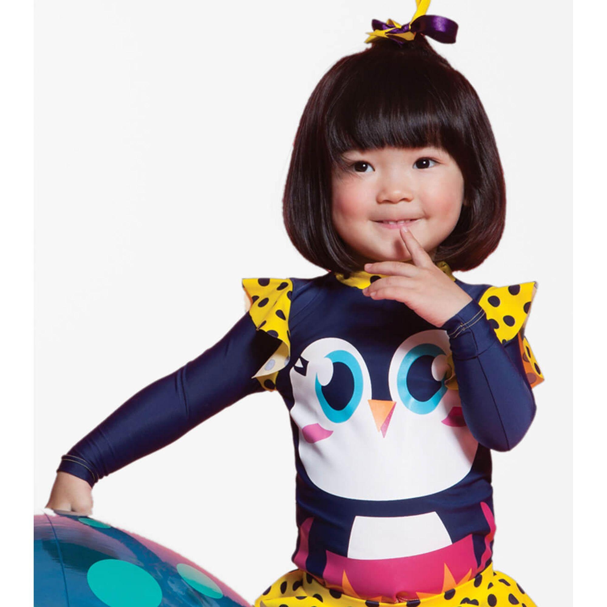 7c1d0955ed6000 Camiseta Menina Pinguim Azul Marinho ML com Proteção Solar Puket ...
