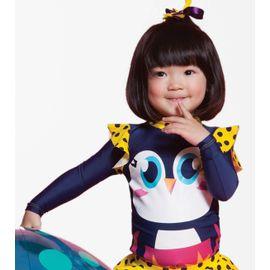 8f69c6a1d Camiseta Menina Pinguim Azul Marinho ML com Proteção Solar Puket