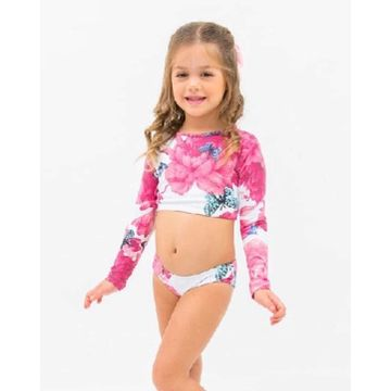 biquini-cropped-infantil-branco-e-rosa-flores-e-borboletas-frente