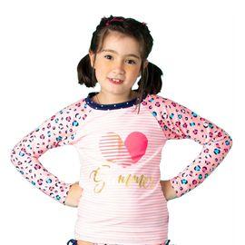 a60e45bea Camiseta Menina Onça Navy Summer ML com Proteção Solar Puket