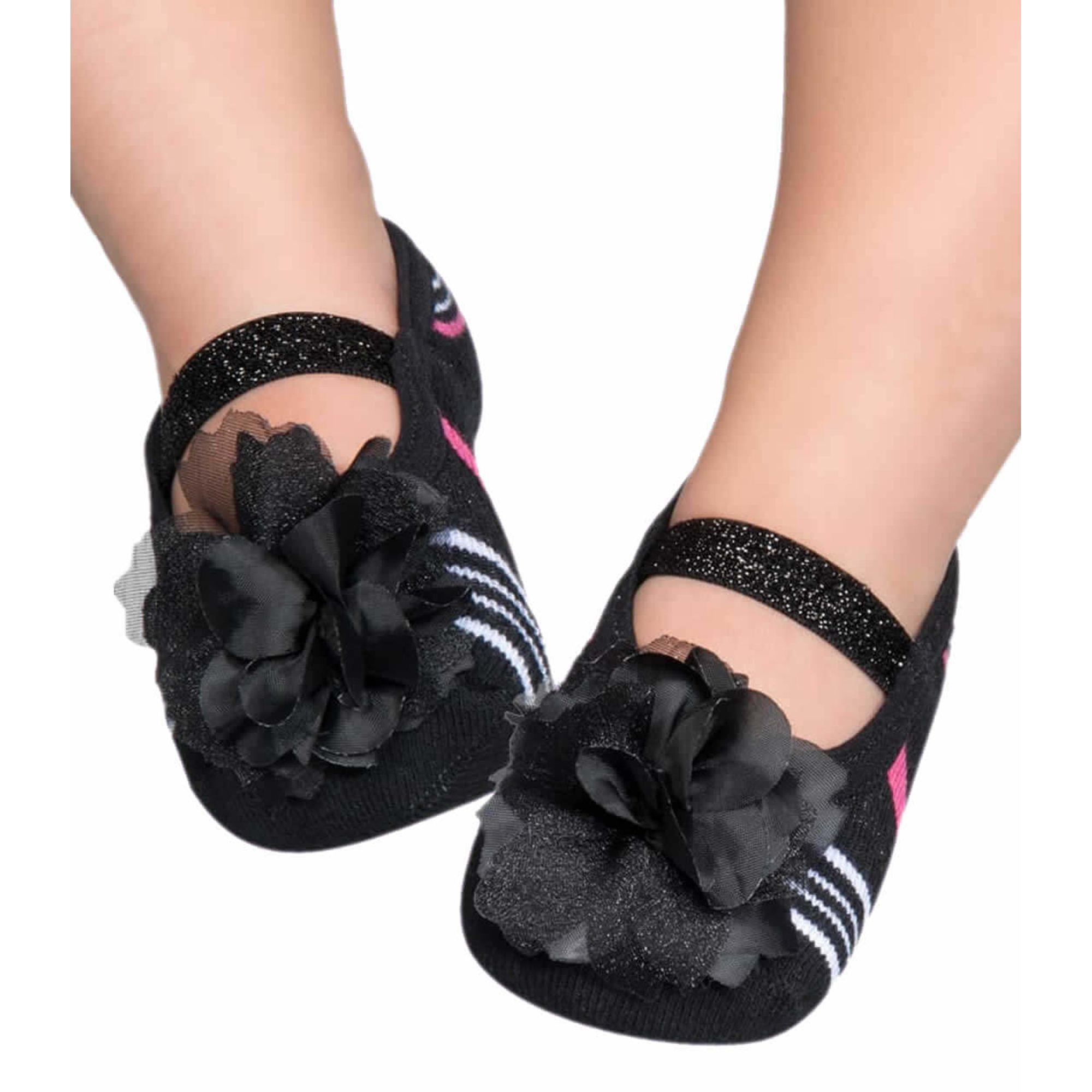 meia-baby-sapatilha-boneca-preta-aplique-flor-listras