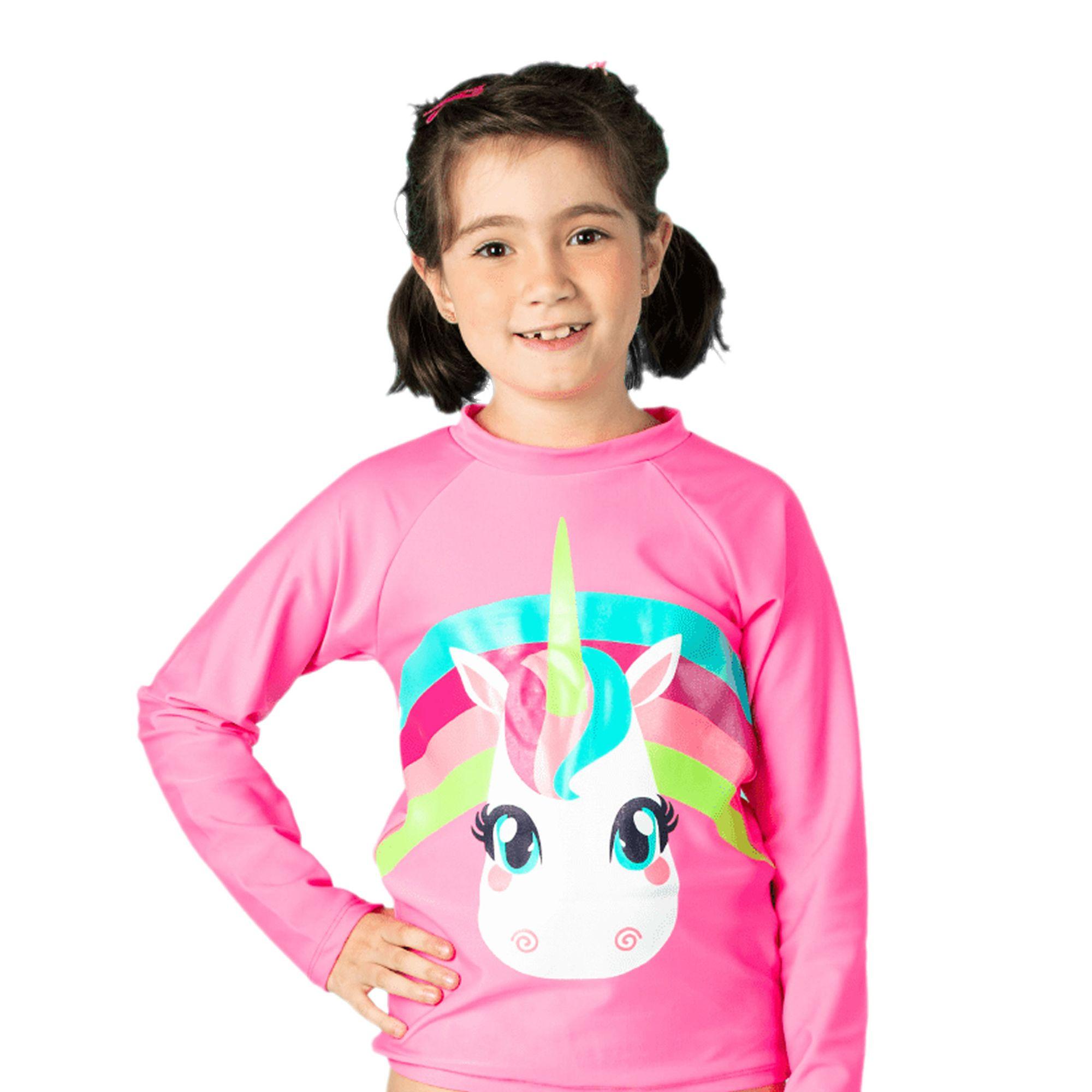 camiseta-praia-infantil-unicornio-rosa-arco-iris