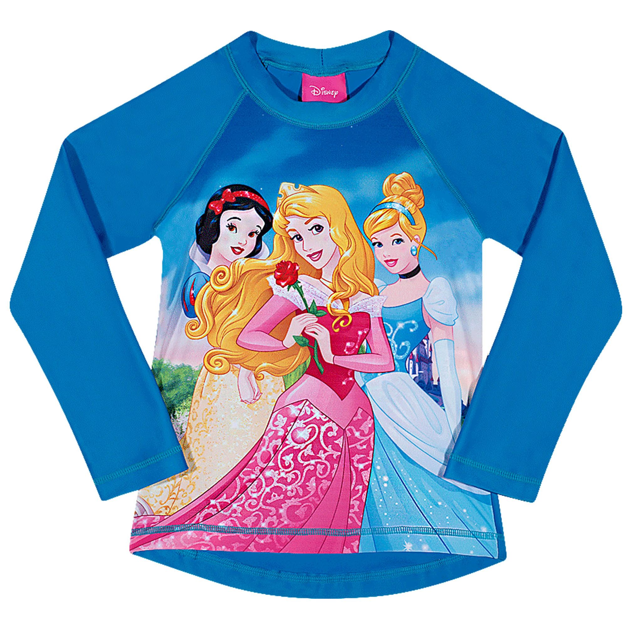 camiseta-infantil-protecao-solar-manga-longa-princesas-disney-azul