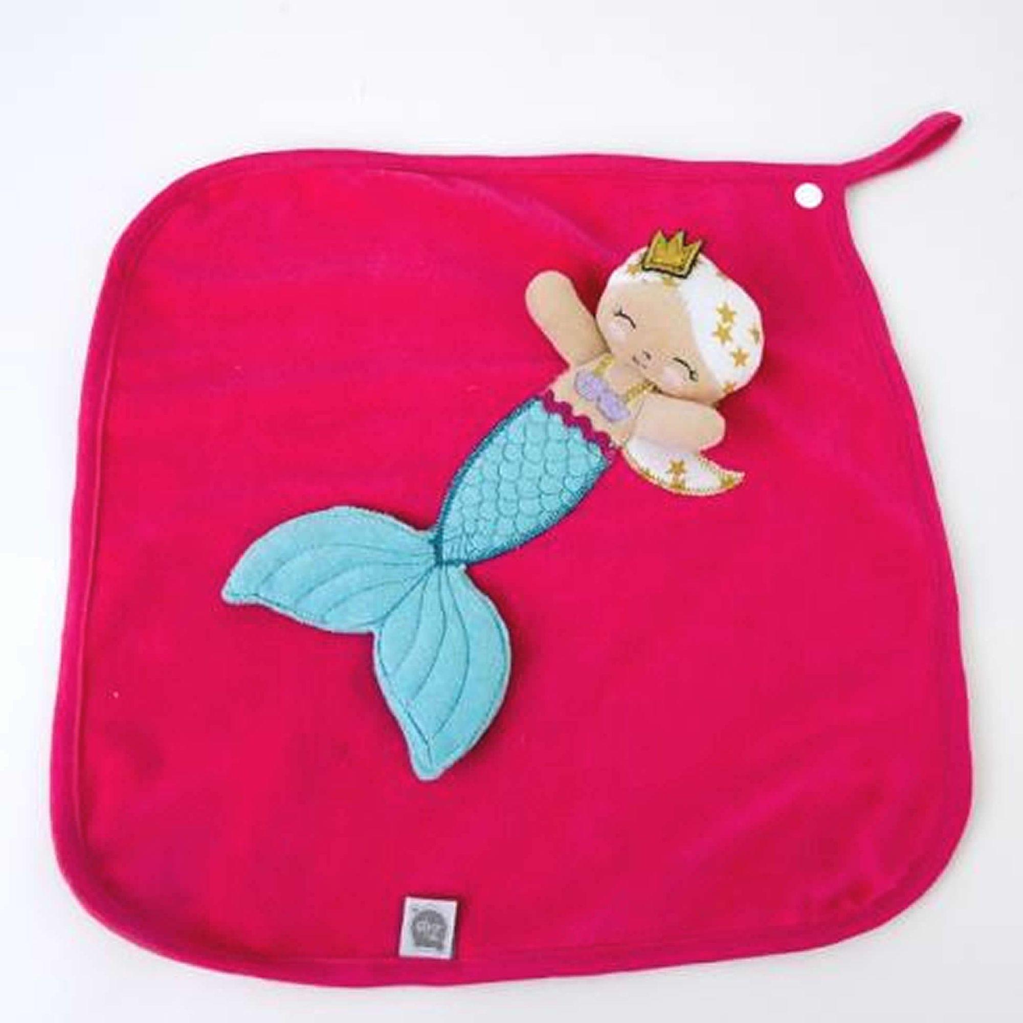 Naninha-Cetim-Sereia-Pink-Bordada-com-Prendedor-de-Chupeta-Zip-Toys