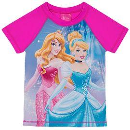 camiseta-infantil-protecao-solar-manga-curta-princesas-pink