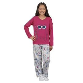 pijama-infantil-manga-longa-menina-gatinha-pink