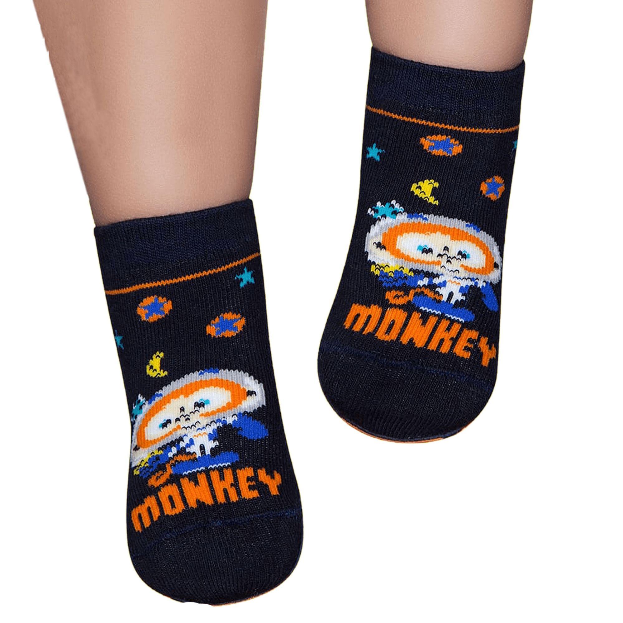 meia-infantil-pansocks-monkey-laranja-puket