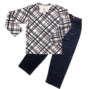 pijama-manga-longa-soft-menino-xadrez-e-calca-marinho