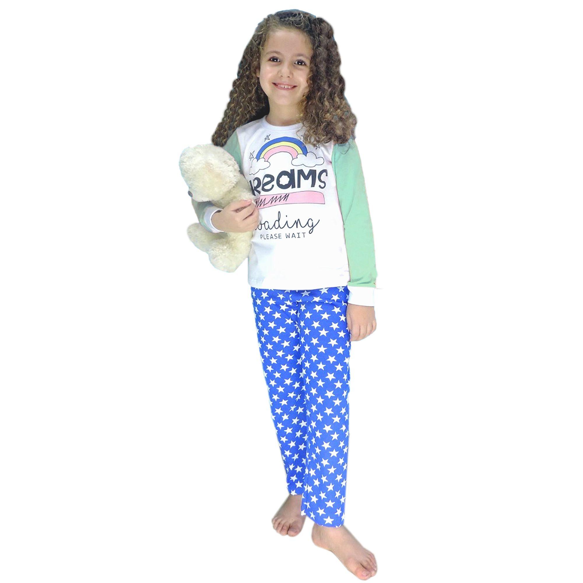 pijama-meninas-manga-longa-dreams-calca-azul-estrelas-1