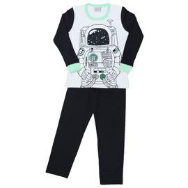 pijama-meninos-manga-longa-astronauta-branco-e-preto