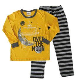 pijama-meninos-manga-longa-over-the-moon-amarelo-e-preto