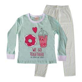 pijama-meninas-manga-longa-rosquinha-verde-claro-calca-bolinhas