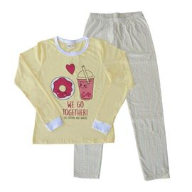 pijama-meninas-manga-longa-rosquinha-amarelo-claro-calca-bolinhas
