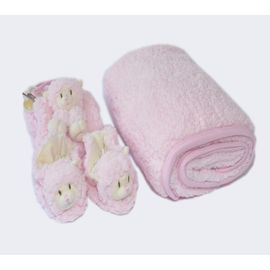kit-presente-carola-manta-pantufa-e-naninha-carola-rosa