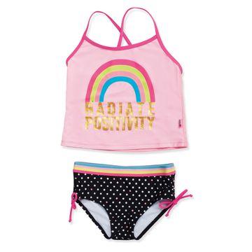 conjunto-praia-infantil-regata-rosa-arco-iris-bolinhas