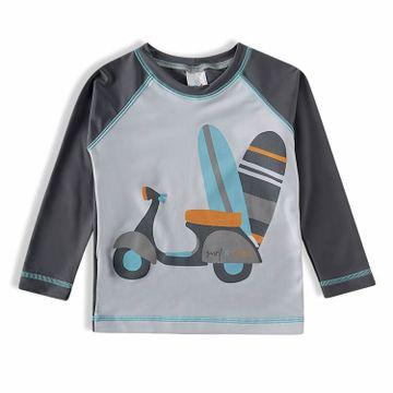 camiseta-infantil-protecao-solar-manga-longa-cinza-lambreta-frente