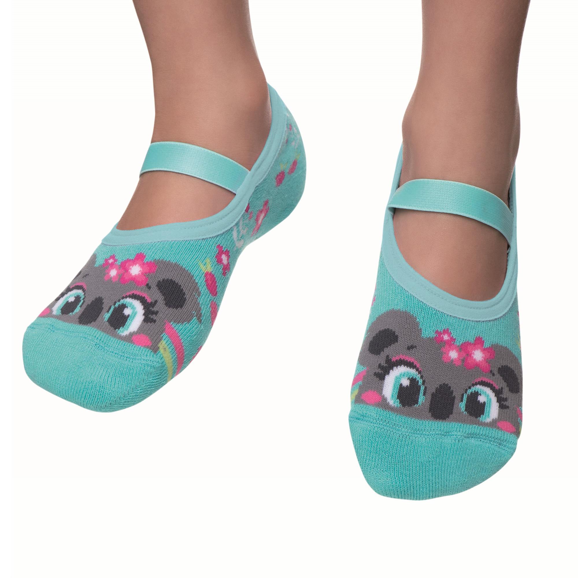 meia-infantil-sapatilha-coala-verde-agua-puket