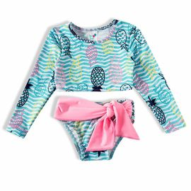 biquini-infantil-cropped-listras-turquesa-abacaxi-rosa-tip-top