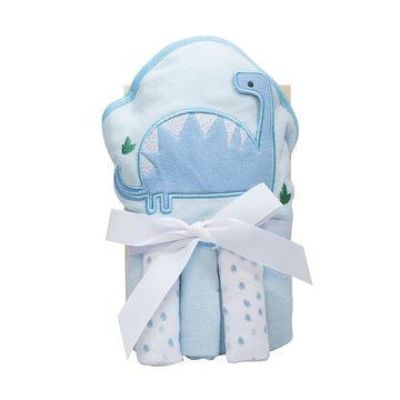kit-toalha-bebe-e-3-toalhinhas-dino-azul-claro-camesa