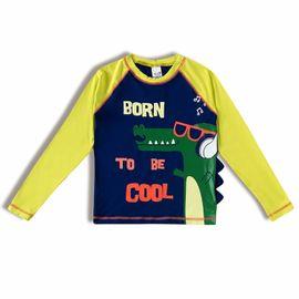 camiseta-infantil-protecao-solar-azul-jacare-musica-tiptop-frente